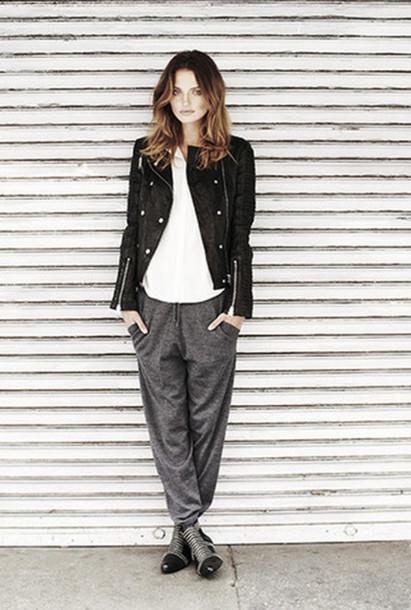 jacket anine bing lookbook fashion pants shoes