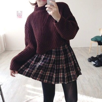 skirt grunge soft grunge grunge skirt burgundy plaid skirt plaid skirt soft grunge skirt burgundy skirt