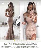 dress,prom dress,lace dress,pink dress,beige dress