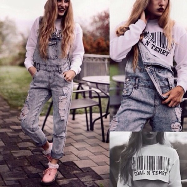jacket denim overalls pants shoes