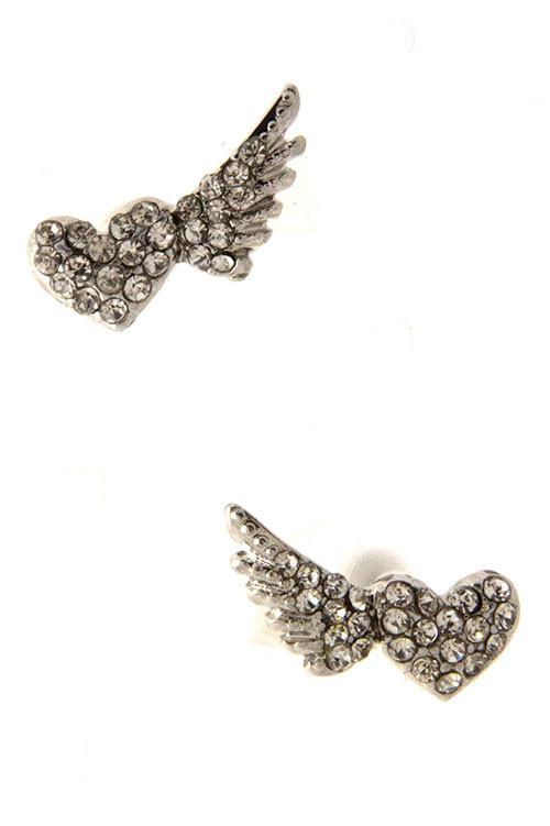 On The Wings of Love Stud Earrings