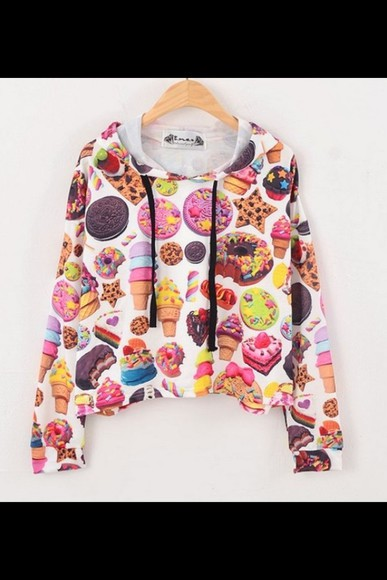 sweater food donuts lolly pop candy