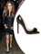 Jennifer lopez heels black patent leather pointy toe knot spikes studs red bottom stiletto 120 mm so kate pumps