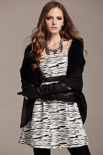 Moonbasa Stylish Tiger Print Hatler Neck Dress [FXBI00447]- US$ 70.99 - PersunMall.com