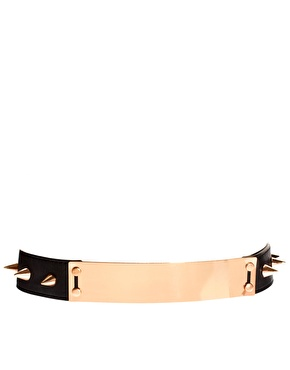 ASOS | ASOS Plate And Spike Detail Waist Belt at ASOS