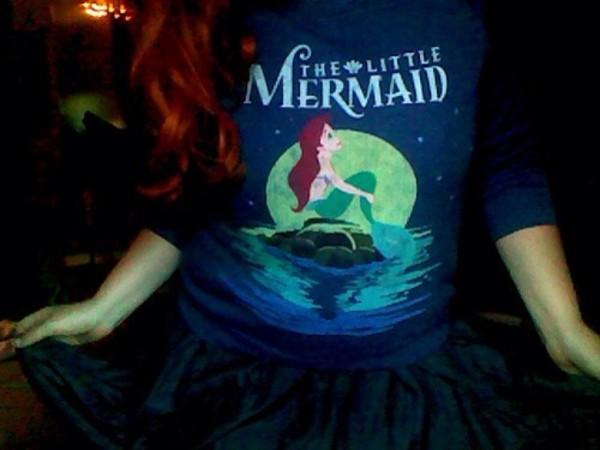 sweater the little mermaid cute blue