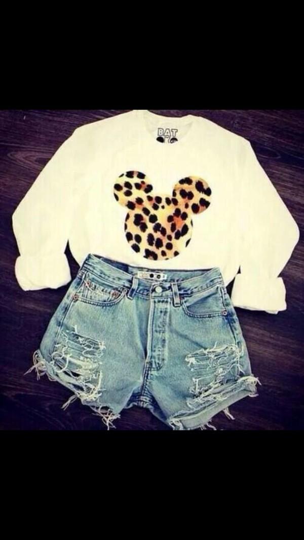 shirt disney shorts