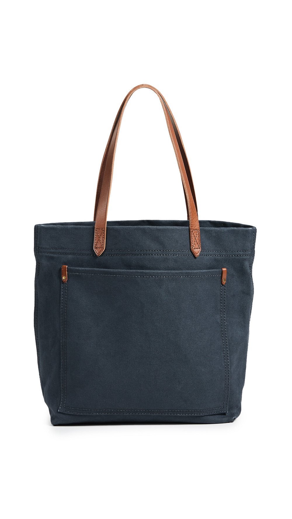 Madewell Medium Transport Tote in Canvas in black