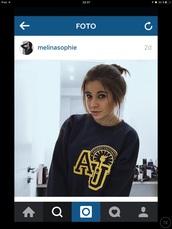 sweater,argent university,blau,gelb