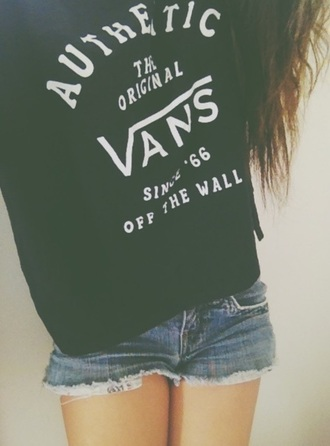 top vans vans off the wall cute black white style fashion vans t-shirt