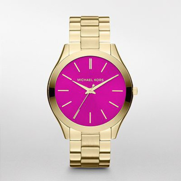 jewels micheal kors watch michael kors pink watch watch watch gold watch fashion brand name