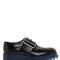 50mm brushed leather platform shoes