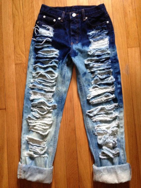 Ombre boyfriend jeans from dre$$toexpre$$ on storenvy