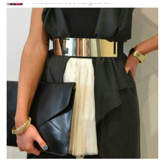 Gold Mirror Belt with Band - closetjealousy