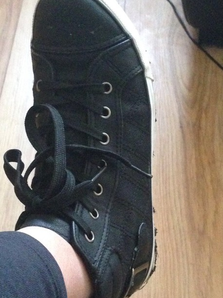 shoes black trainers laces