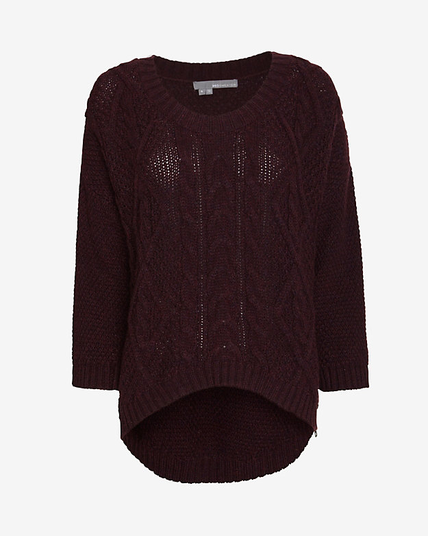 360 Sweater U Neck Cable Knit Sweater | Shop IntermixOnline.com