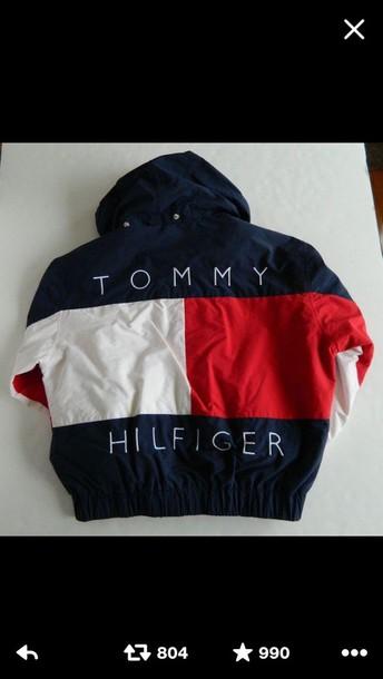 jacket menswear tommy hilfiger coat guys blue tommy hifliger tommy hilfiger jacket windbreaker