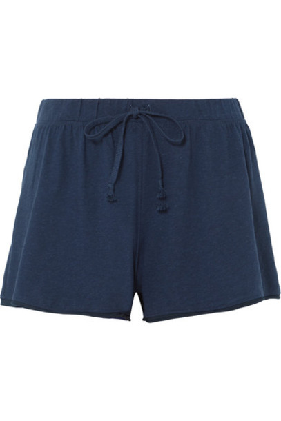 shorts pajama shorts navy cotton