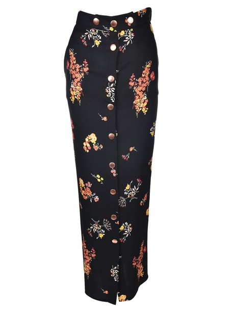 8pm skirt long skirt long floral black