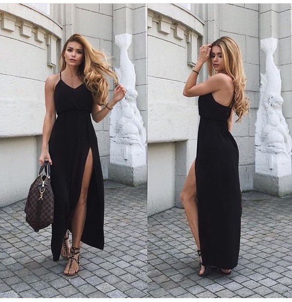 7ac33e293064 dress outfit outfit idea summer outfits cute outfits spring outfits date  outfit party outfits black dress