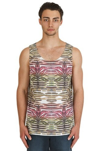 tank top printed tank top floral all over print full print floral tank top streetwear streetstyle menswear