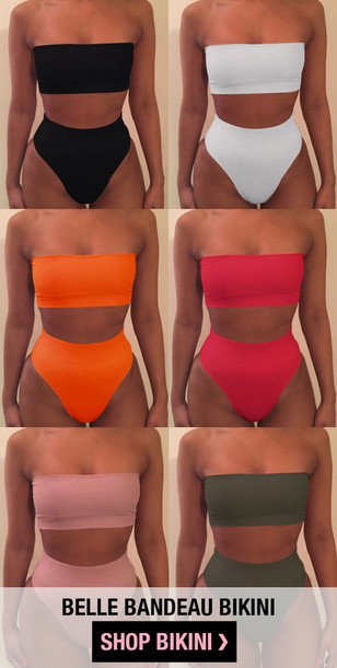 swimwear bikini top bikini top bikini bottoms pink white black two-piece army green orange beach dress top cute sexy