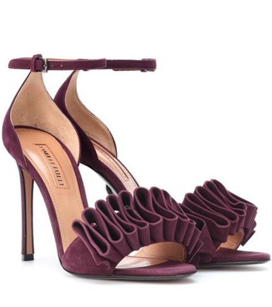 Samuele Failli Alexandra 105 suede sandals in purple