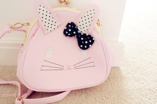 bag kawaii bag bunny pastel pink easter