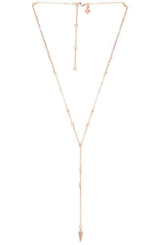beaded necklace metallic copper jewels