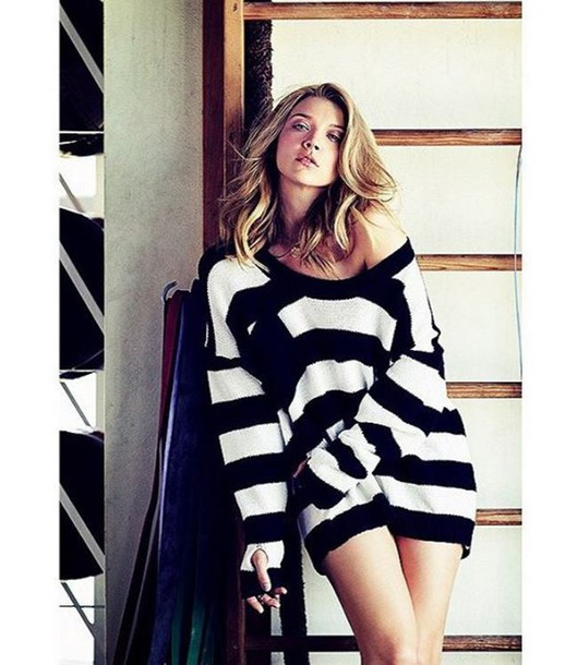 Sweater: stripes, striped sweater, natalie dormer, editorial ...