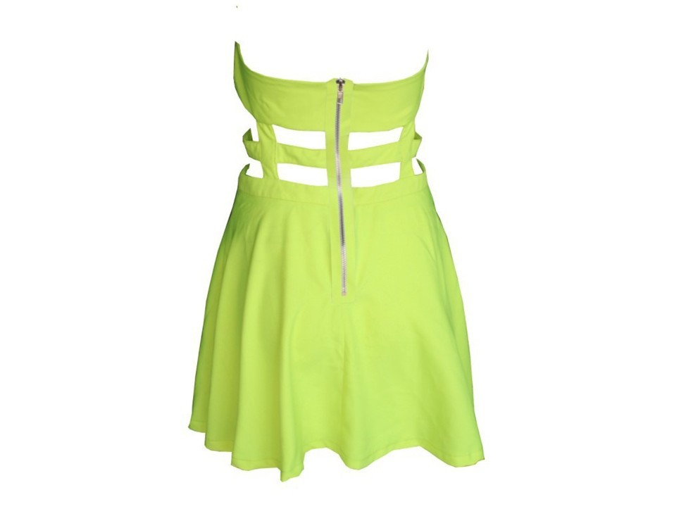 Free shiping Fashion BOW CAGE DRESS party dress Back hollow dress  J321-in Apparel & Accessories on Aliexpress.com