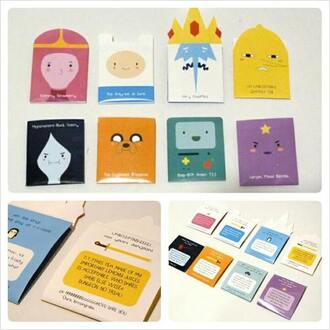 bag cards cute awe pink blue white purple yellow baby prinesses adventure time cartoon turquoise