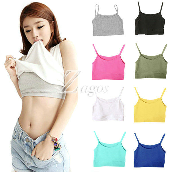 HOT SELL Women's Sexy Sports Cotton Short Tank Top Boob Tube Top Bra Casual Sleeveless Wholesale BD0105 FREE SHIPPING-in Camisoles & Tanks from Apparel & Accessories on Aliexpress.com