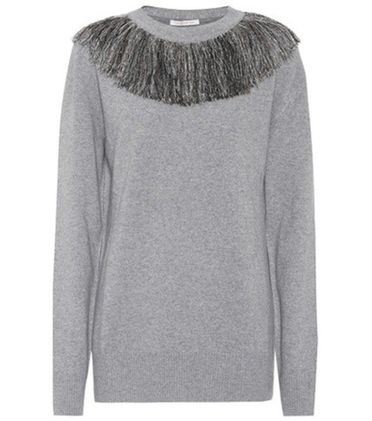 Christopher Kane Wool and cashmere sweater in grey