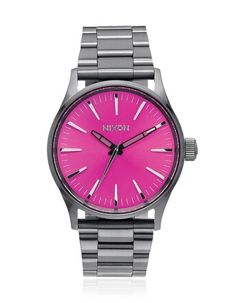 watch pink grey jewels