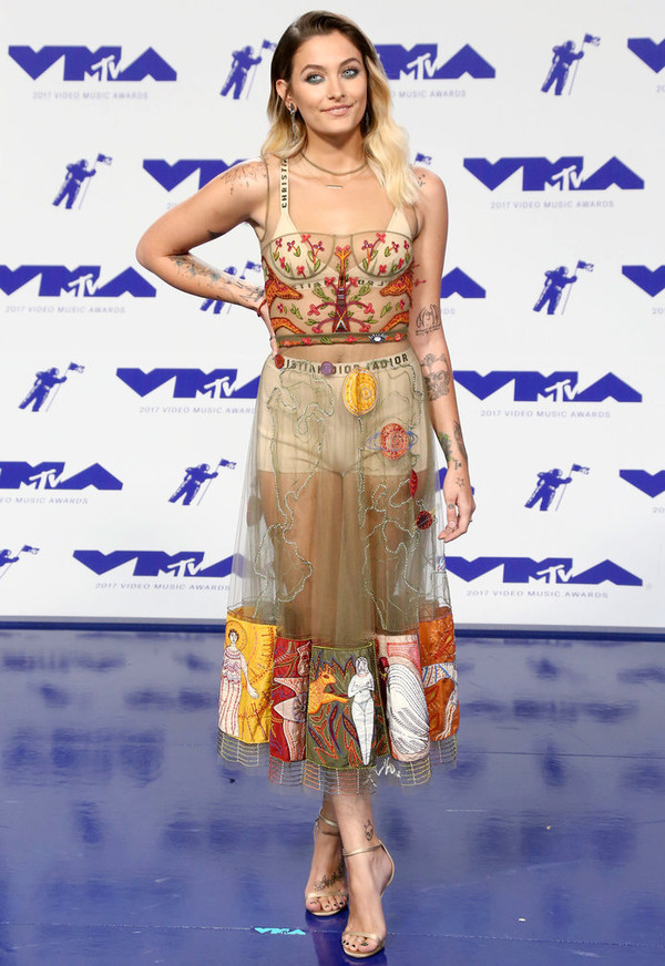 dress sandals underwear sandal heels vma paris jackson midi dress gown see through mtv shoes