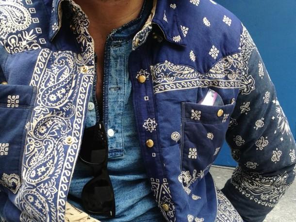 Bandana Print Jacket March 2017