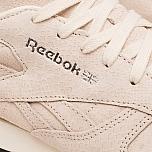 кроссовки женские reebok classic leather exotics metallic silver