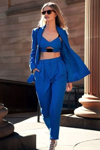 romper two-piece all blue everything