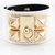 Gold Rivet White Leather Bracelet - Sheinside.com