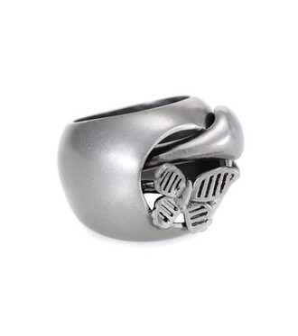 snake butterfly ring silver jewels