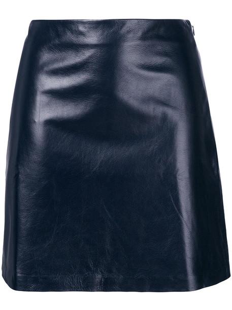 theory skirt mini skirt mini women blue
