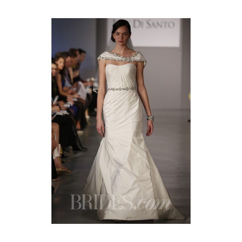 Ines Di Santo - Spring 2014 - Arabella Strapless Wedding Dress with Pleated Bodice and Asymmetrical Skirt - Stunning Cheap Wedding Dresses Prom Dresses On sale Various Bridal Dresses