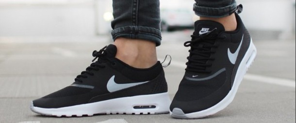 newest 53890 07c4f shoes nike air max thea black grey and white