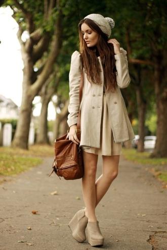 coat white winter coat winter outfits fall beige gorgeous autumn long coat elegant