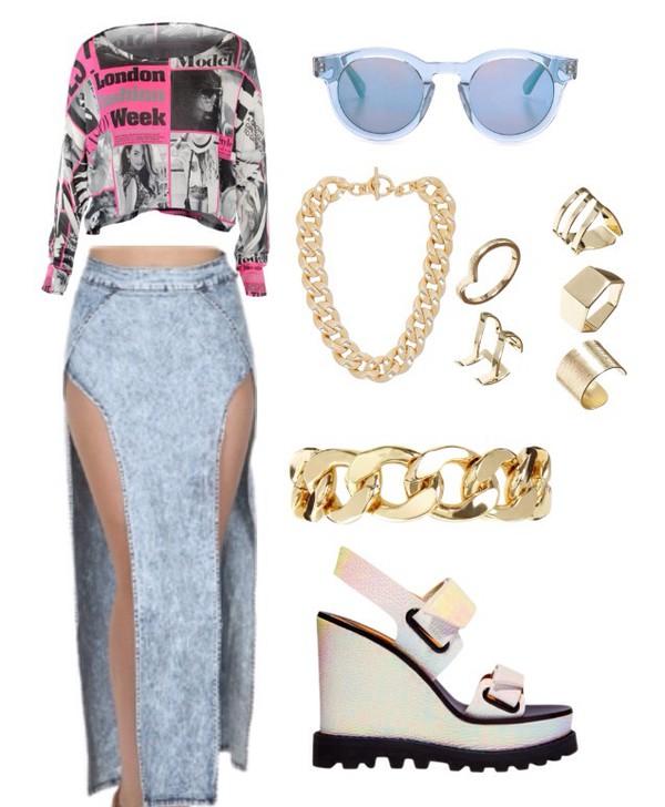denim fashion skirt