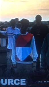 sweater,1995 la source,sneazzy,red white blue sweater