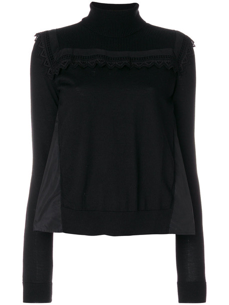 moncler sweater women turtle black wool