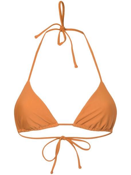 MATTEAU top triangle top triangle women spandex yellow orange