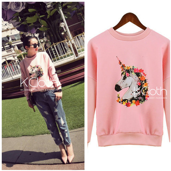 sweater kcloth unicorn pink unicorn pink shirt pink jumpers pink unicorn onesies pink and white babypink sweater